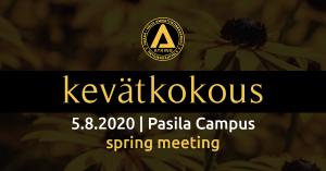 kevätkokous 5.8.2020
